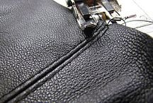 Leather Work / Sewing with leather. Leather trim. Leather craft