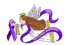 Fibromyalgia Angels / Our heavenly Fibromyalgia Awareness Healing angels are lovingly designed by angel artist and QVC's angel lady, Angelina LaFera. The purple awareness ribbon signals hope that through increased awareness of fibromyalgia, early intervention and appropriate treatments, people with fibromyalgia will lead fuller, more complete lives.             All Images Copyright © 2016 Angelina LaFera