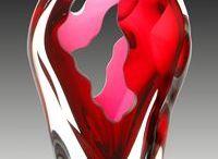 Glass sculpture etc