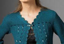 boleros em crochet e tricot