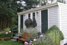 Cottage Series Luxury Loo / Portable restroom with a Cape Cod shingled cottage style exterior.  Interior boasts design details equivalent to that of luxury hotels.