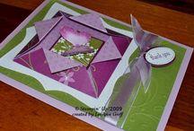 Origami box fold card