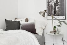 Bedroom Inspiration / mostly white bedroom essentials and accessories.