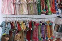 Dolls clothes display