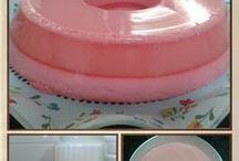 flan de gelatina morango