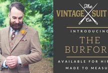 The Burford / Our brown herringbone tweed style worsted wool suit