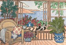 ColorIt Blissful Scenes Submissions / Wonderful places, marvelous trees, amazing wildlife, and even scrumptious desserts - these can be found inside the Blissful Scenes coloring book. Enjoy these submissions colored by our awesome ColorIt fans.