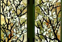 Glass flower panels / by Christy Klein