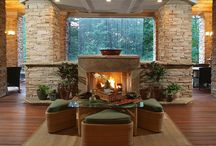 Living Rooms / Awesome living rooms, hearth rooms, or gathering rooms in custom homes.