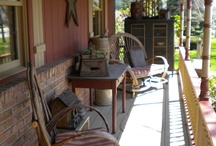 Country porch ...