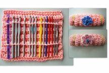 Crocheted Hook Cases