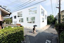 Sou fujimoto villa i gårdhave lys åbent lukket