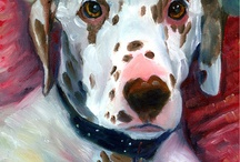 Dalmation Dog Art by Lyn Hamer Cook / My Art of the Dalmation.  www.PetArt.net