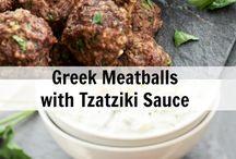 Taziki meatballs
