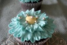 Blue & Green Cupcakes / Pretty cupcakes