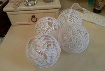 Christmas crochet balls