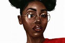 Black girl thrill art