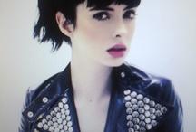 Dark hair and fair / #beauty #pale #fairskin #fair #blueeyes #darkhair #brunette #blackhair