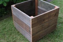 Wood planter & other