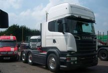 New Scania V8 / This new vehicle had some Alcoa Durabright wheels fitted by Tyretracks (Eccleshall) Ltd prior to delivery