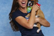 #RoadToRio / Cuteness overload! Olympic Athletes with puppies! #RoadToRio