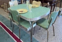 Retro Kitchen Tables / Formica and chrome kitchen tables were so popular in the 1950s. If you love retro and vintage visit my blog  Kitsch n Stuff http://cdiannezweig.blogspot.com/