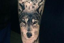 farkas tetoválás