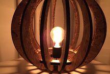 Pumpkin Lamp. Design Sebastian Gram Friedrichsen / Lampe udført i OSB træ