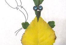 Апликация из листьев