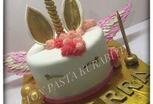Unicorn cake / Unicorn pasta