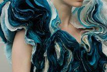 Ocean/aurora light art/fashion