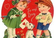 Cute Kids Valentine Cards / Wonderful Valentine cards featuring sweet kids and cute animals and more ...   Let's help our kids celebrate the power of love by helping them send (or send to them) a cute Valentine's Day card!  Enjoy these past old vintage Valentine cards as well the modern versions :-)