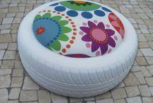ruedas recicladas
