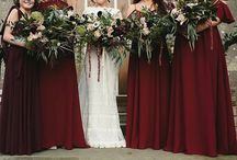 Red bridesmaid dresses / Red, burgundy and maroon bridesmaid dresses
