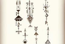 Dots lines geometric tattoo