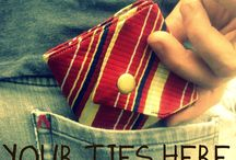 Recycled ties & shirts - great sewn present ideas for the men in your life / Great present ideas to sew for the men in your life!