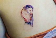 Татуировки акварельной совы