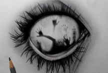 creepy drawings