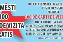 TiparesteAcasa / 100 Carti de vizita gratuite