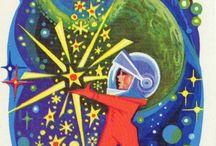 Новогодние открытки космической тематики