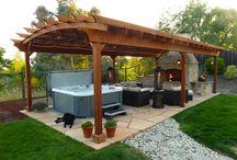 hot tub/ outdoors