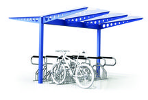 Bicycle shelters / undercover shelters for bicycle parking
