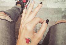 Tattoes.
