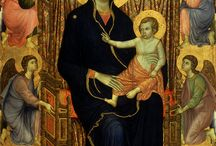 Maestà / Paintings of the enthroned Madonna with child