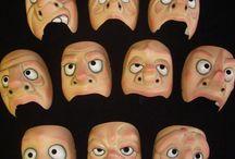 Character Half Masks