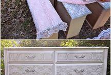 Furnitures / Bútorok átfestve, újra kárpitozva vagy egyszerűen csak újra értelmezve funkcionálisan.