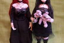 Gothic or Vampire dolls 1:12 scale