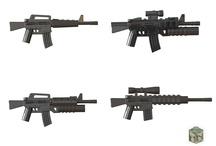 Custom Army LEGO Guns - USA / USSR (Russian) Toy Weapons