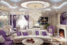 Дизайн интерьера квартиры на Староволынской в стиле Ар Деко / Дизайн квартиры на Староволынской спроектирован в стиле Ар Деко. Приятный фиолетовый цвет проходит через всю квартиру, через гостиную и столовую в коридор. Белый, бежевый и фиолетовый наполнили дом особым чувством стиля и домашним теплом. Современная интерпретация направления Ар Деко самодостаточна и любима многими декораторами и дизайнерами.