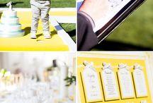 Mariage jaune et bleu